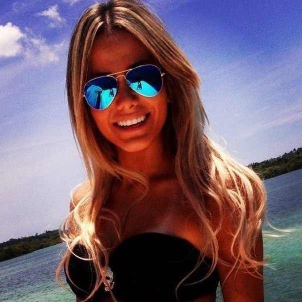 модные очки от солнца 2018: авиаторы синие