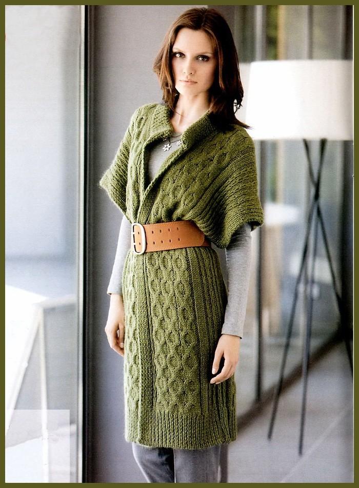 модные женские кардиганы 2019-2020: вязанные зеленые