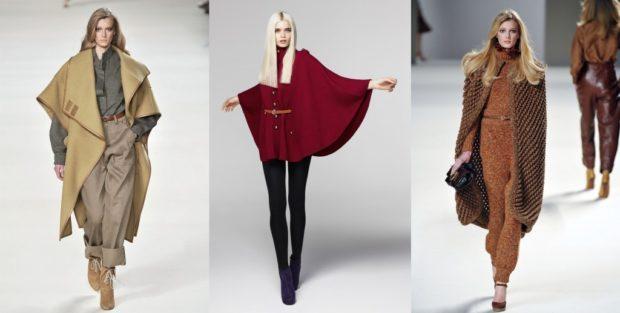 модные женские кардиганы 2019-2020: пончо зеленое красное коричневое