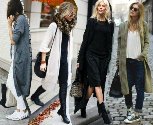 модные женские кардиганы 2019-2020: серый белый черный зеленый