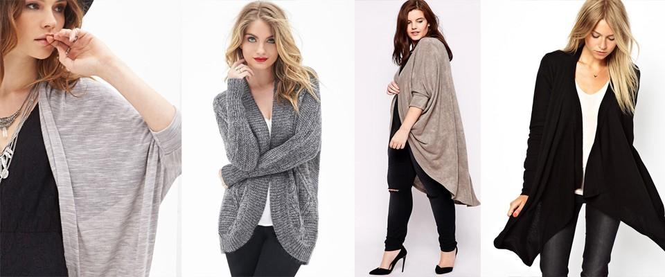 модные женские кардиганы 2019-2020: серый черный короткие