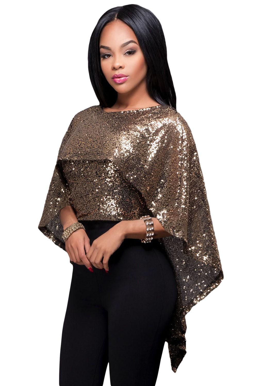 новогодний образ 2018: блузка золотая под штаны