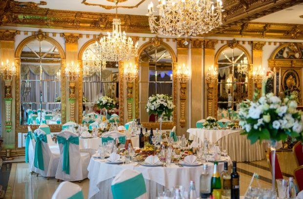 Интерьер роскошной свадьбы