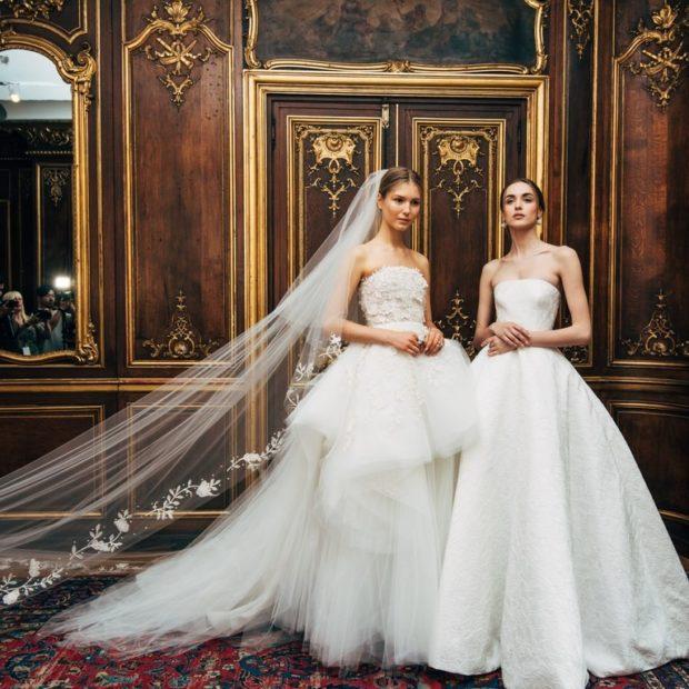 свадебная коллекция Elie Saab 2018 пышное платье
