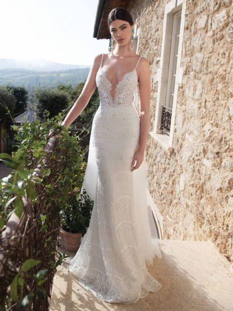 свадебные коллекции Elie Saab 2018 открытые плечи топ кружевной