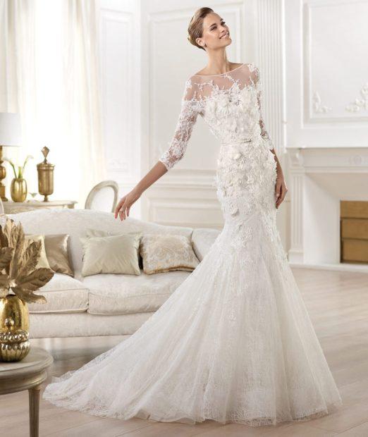 свадебные коллекции Elie Saab 2018 платье белое с хвостом