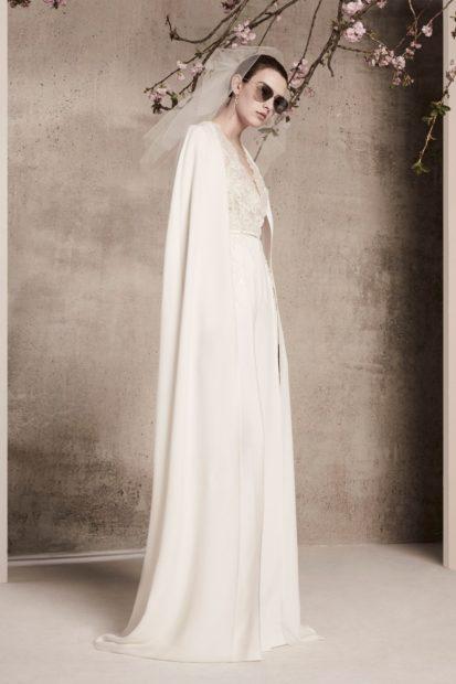 свадебные коллекции Elie Saab 2018 платье минимализм белое прямое
