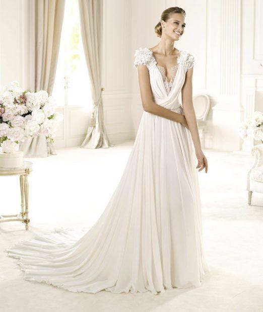 Свадебная коллекция Elie Saab 2018 юбка в полн V образный вырез