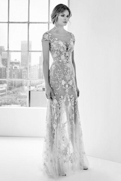 Свадебная коллекция Elie Saab 2018 платье гипюровое по фигуре