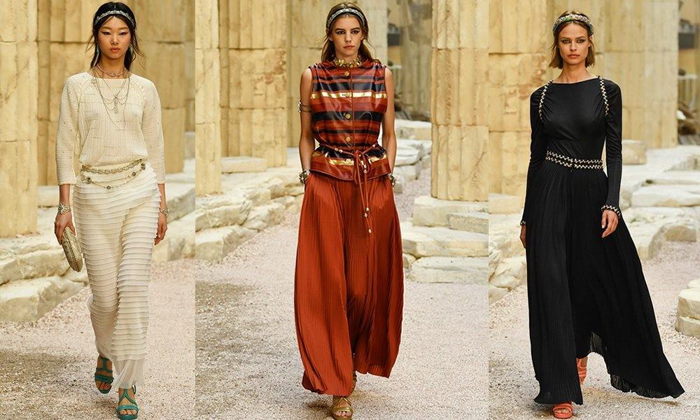 3f6efcc8af0 весенняя коллекция Chanel Resort 2018  платья в пол белое красное черное