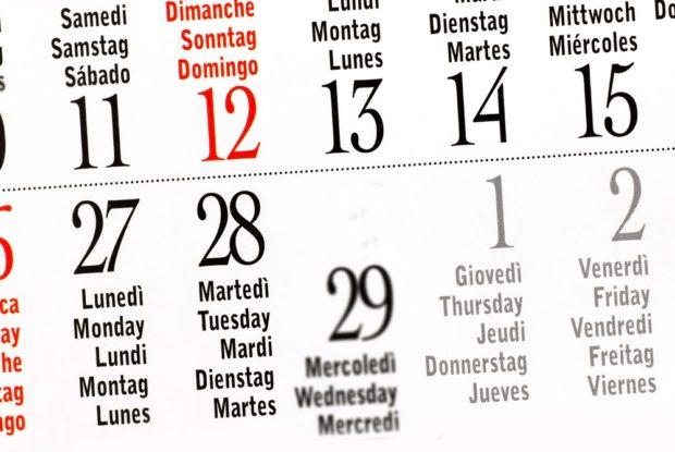 Календарь високосный год