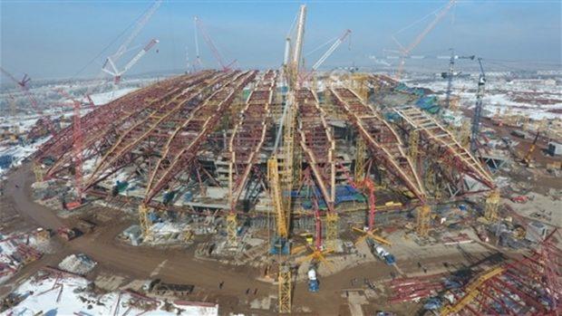 строительство стадиона в Самаре