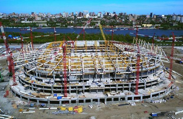 строительство Ростов арены