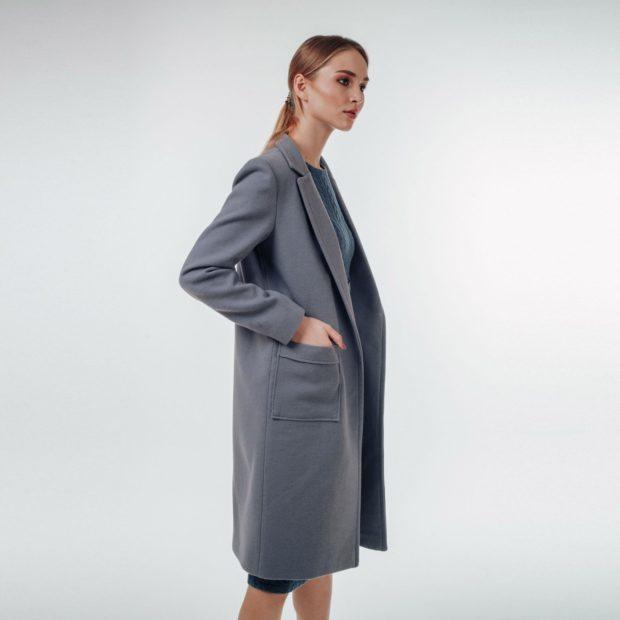 Что надеть на Новый год 2020: пальто пиджак серое