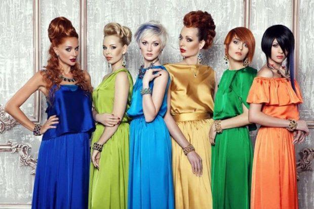 Что надеть на Новый год 2020: платья синее зеленое голубое золотое оранжевое
