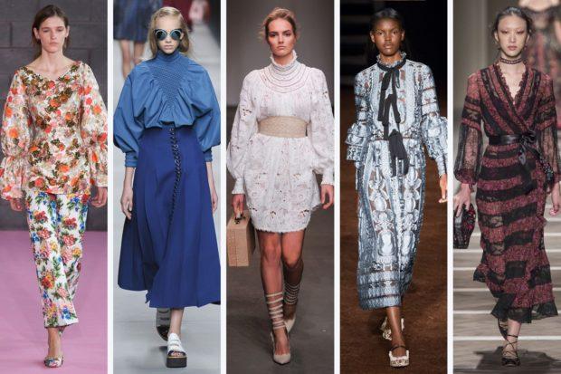 женская мода весна-лето 2019: яркие луки костюм платья длинные