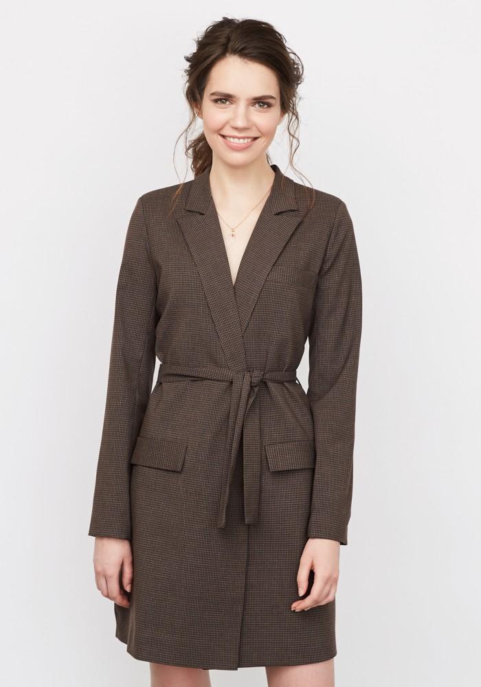 женская мода весна лето 2019: платье пиджак с запахом