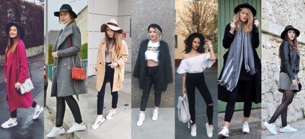 женская мода весна-лето 2019: смешивание спорта и классики лосины и пальто кроссовки и юбки