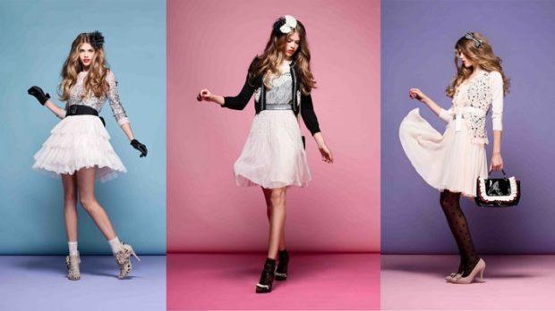 женская мода весна лето 2019: платья беби-долл белые