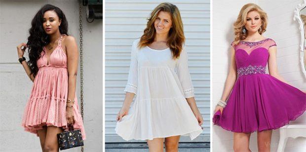 женская мода весна лето 2019: платья в стиле беби-долл розовое белое фиолетовое