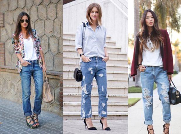 женская мода весна лето 2019: джинсы короткие