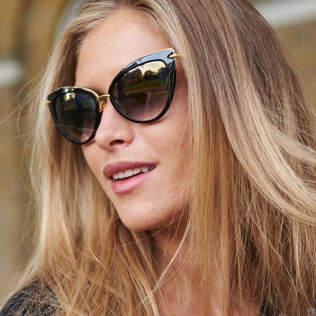 женская мода весна лето 2019: очки вытянутые