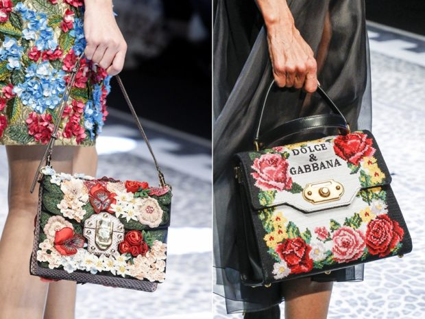 женская мода весна лето 2019: сумки с вышивками
