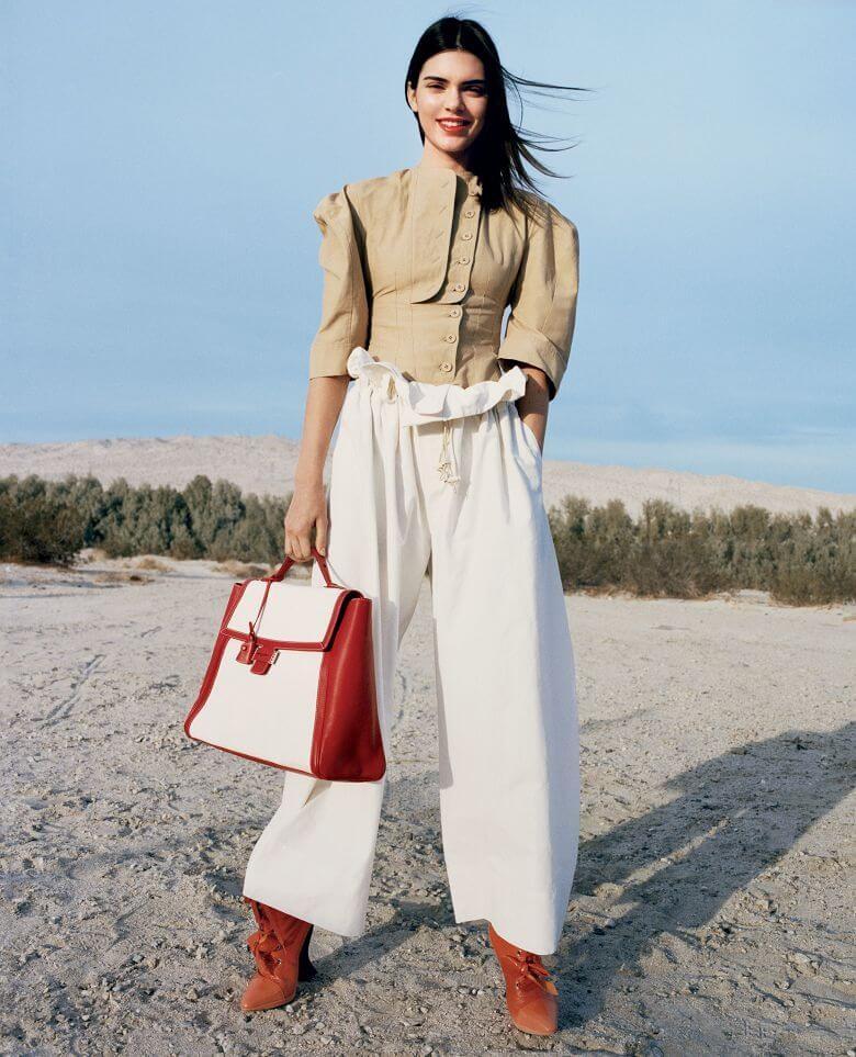 модная одежда 2019-2020: брюки белые широкие с подвязками