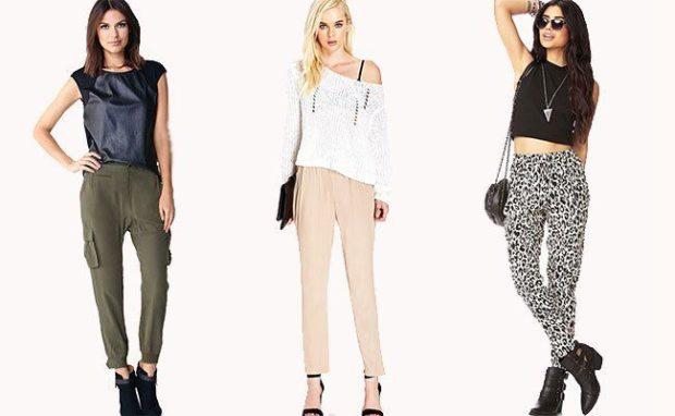 модная одежда 2019-2020: брюки зеленые белые черно белые коротки