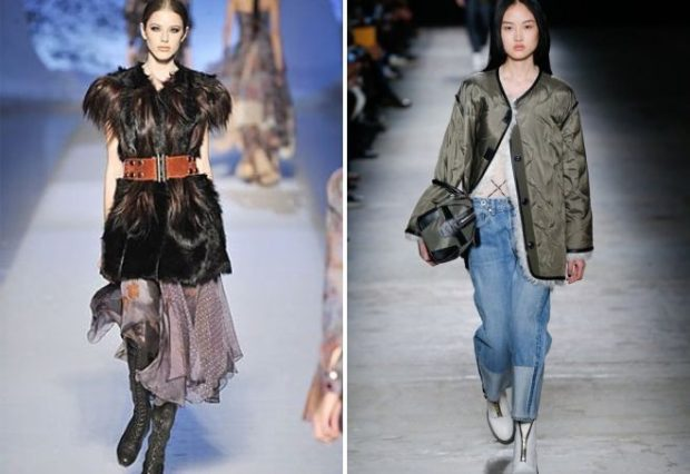 модная одежда 2019-2020: жилетка меховая штаны куртка