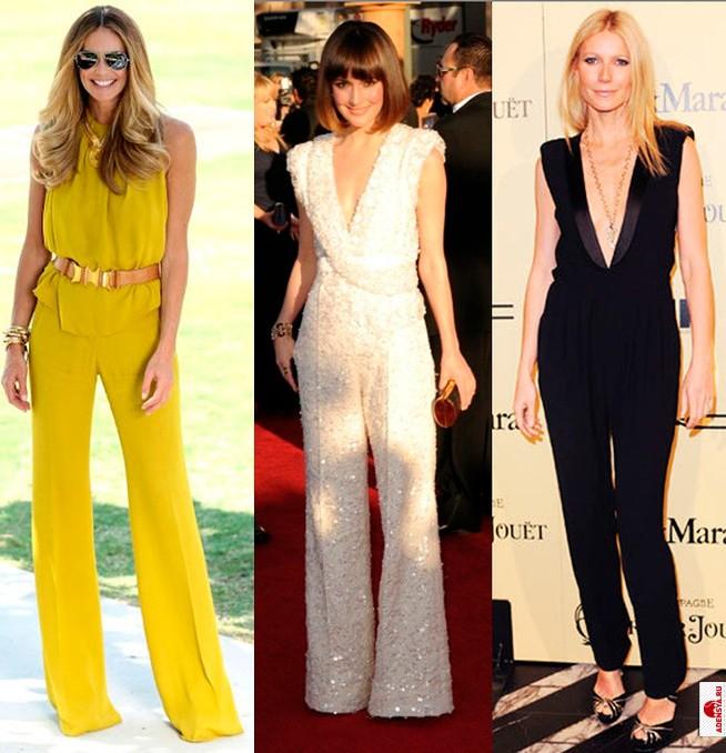 модная одежда 2019-2020: комбинезоны желтый белый черный