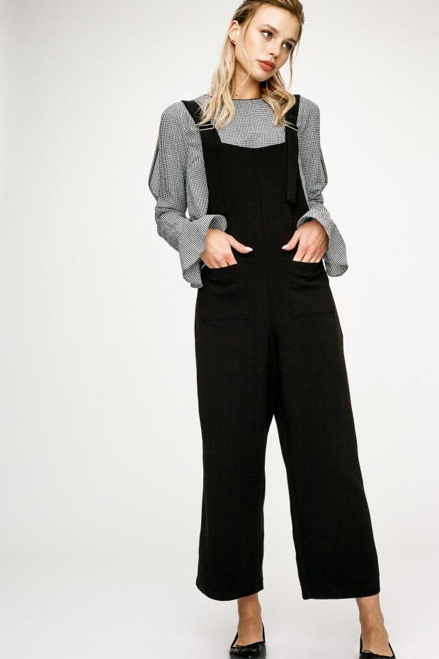 модная одежда 2019-2020: комбинезон черный