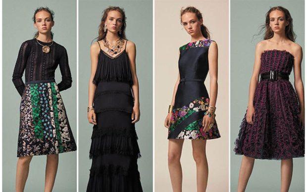 модная одежда 2019-2020: платья миди длинное черное с рукавом без плеч