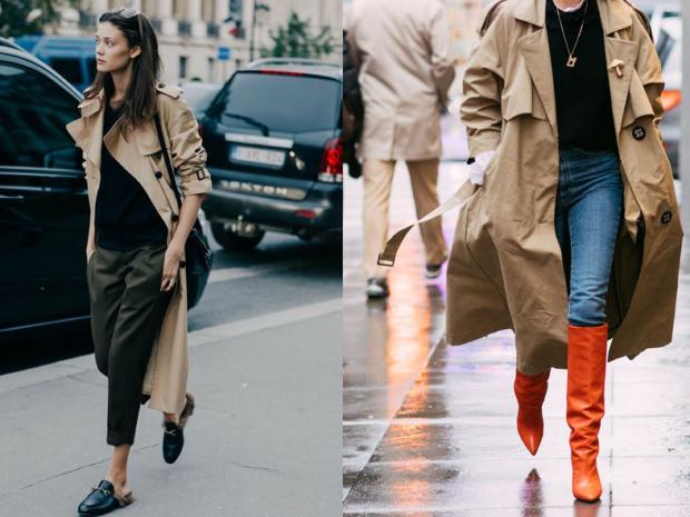 модная одежда 2019-2020: плащи светлые оверсайз