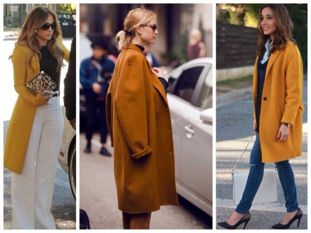 модная верхняя одежда: пальто бежевое миди