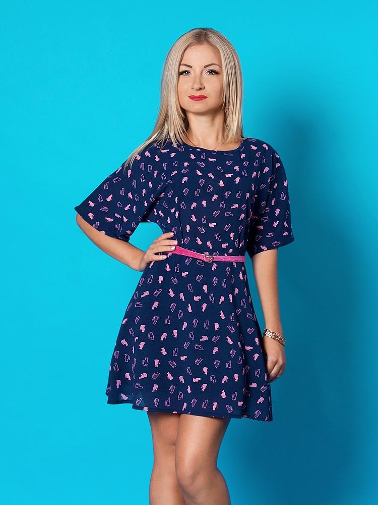 модная весна: платье а-силуэт шифоновое