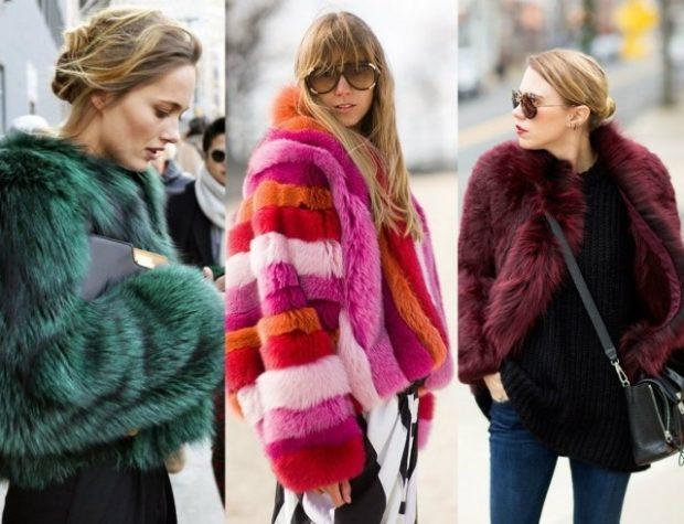 модная зима 2019-2020: цветные шубы зеленая в полоску бордо