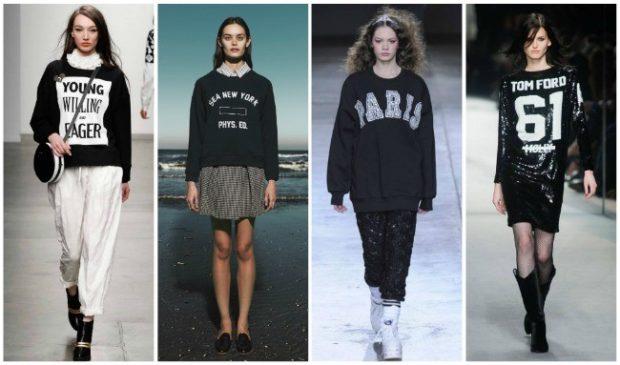 модная зима 2019-2020: свитера с надписями