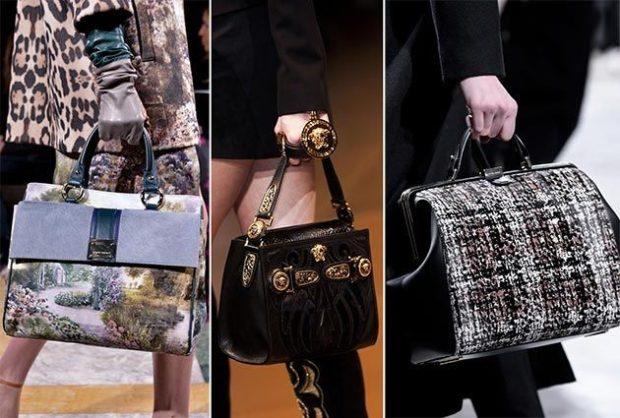 модная зима 2019-2020:сумки с короткими ручками жесткие