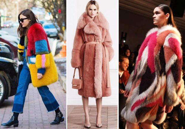 модная зима 2019-2020: шубы цветные удлиненные