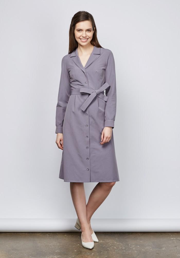 модные цвета лето 2019: платье серо-холодное