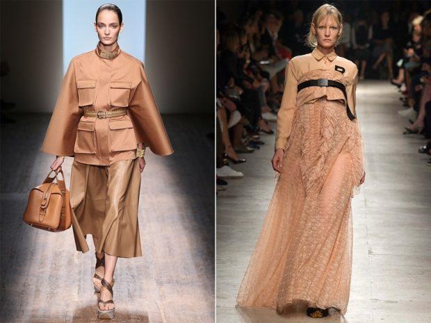 модные цвета лето 2019: золотые оттенки платья юбки