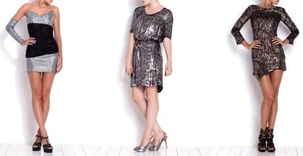 модные цвета осень 2019: серебристые юбки платья