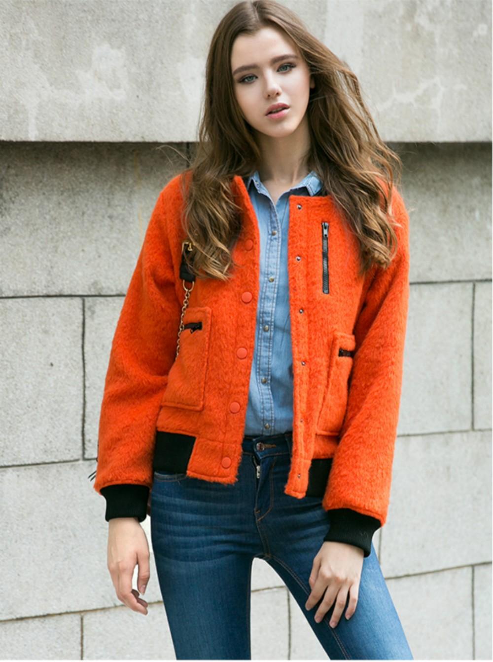 модные цвета осень 2019: куртка оранжевая короткая