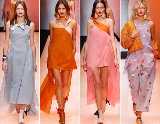 модные цвета весна 2018: серый красный розовый