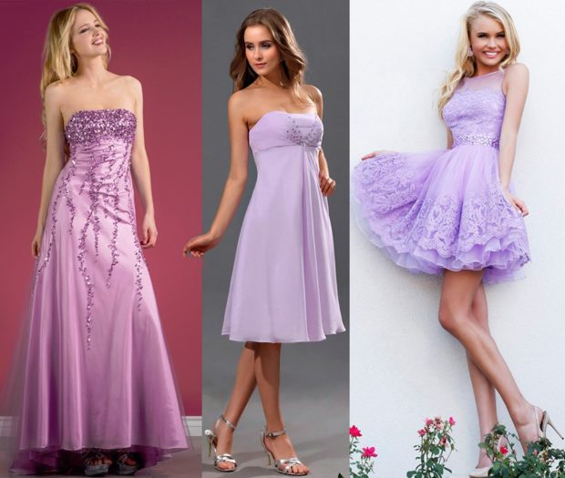 модные цвета весна 2018: платья иловые длинное миди короткое