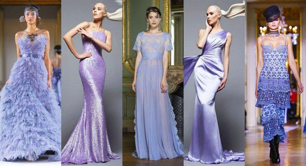 модные цвета весна 2018: иловые платья в по