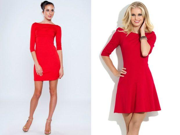 модные цвета весна 2018: красные платья