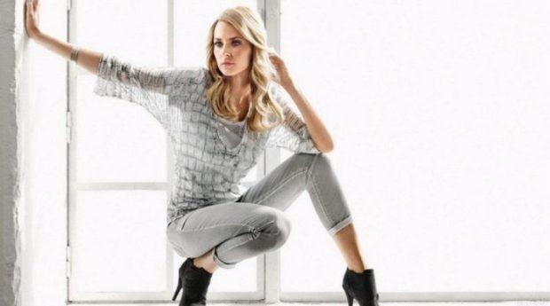модные цвета 2018: серыйlook штаны кофта