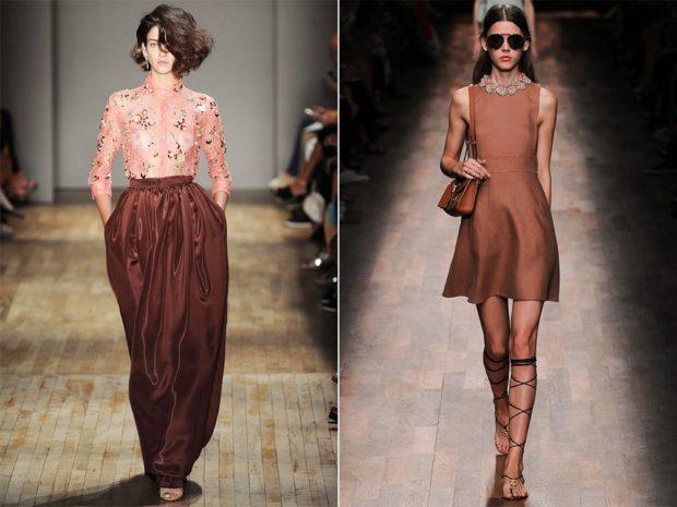 модные цвета весна 2018: коричневый